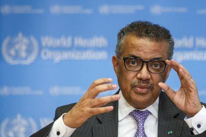 Foto de archivo: El director general de la Organización Mundial de la Salud (OMS), Tedros Adhanom Ghebreyesus, en una rueda de prensa el 9 de marzo de 2020 en Ginebra, Suiza (EFE/ Salvatore Di Nolfi)