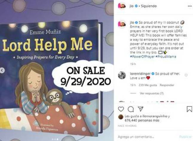 The proceeds from this book will be donated to save the sloths (Photo: Instagram Jennifer Lopez)