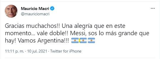 Tuit Macri