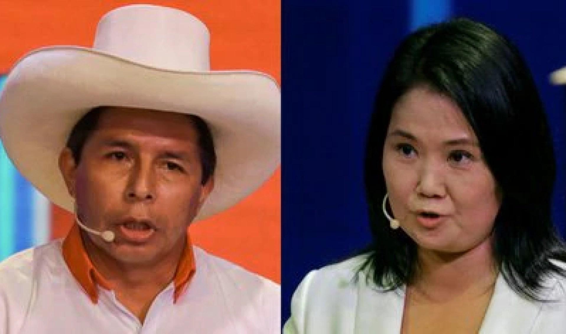 Pedro Castillo y Keiko Fujimori (Sebastián Castañeda / AFP)