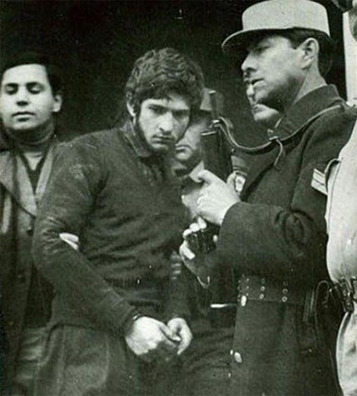 Sergio Schoklender cuando fue detenido en 1981: tenía 23 años