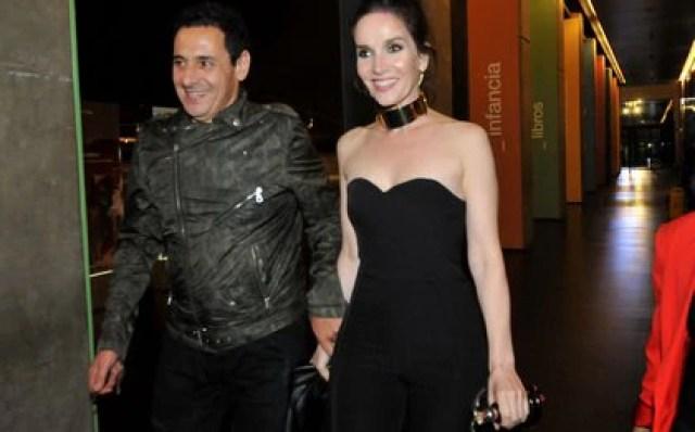 Ricardo Mollo y Natalia Oreiro durante una gala de los Cóndor de Plata