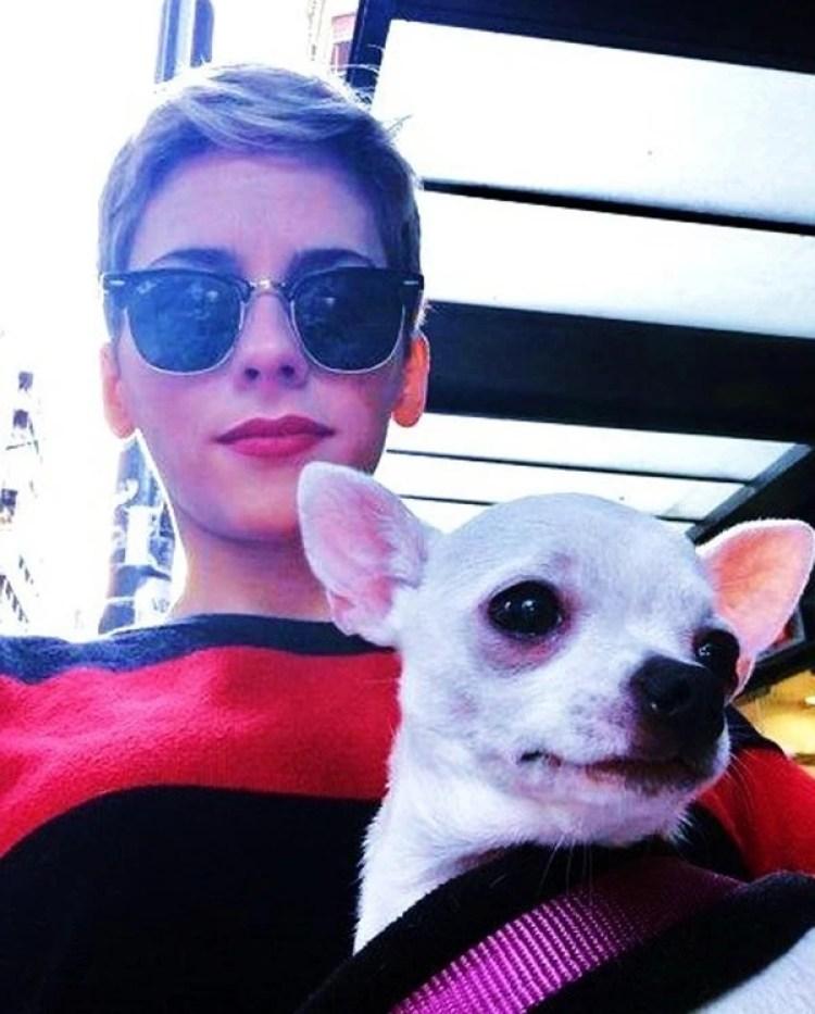 La modelo y su fiel compañera, a la que dejó con sus terapeutas para que no quedara desprotegida luego de su muerte