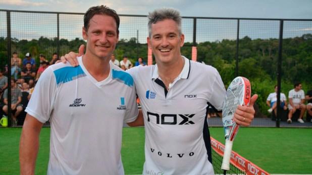 Nalbandian y Miguel Lamperti, una de las estrellas del circuito profesional de padel