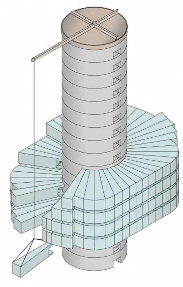El edificio es el primero en construirse de manera prefabricada, según los creadores