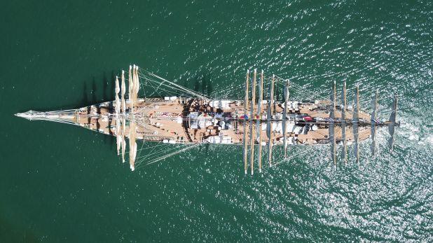 La Fragata Libertad, embargada en 2012 por un fondo buitre