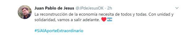 tuits intendentes respaldan impuesto a la riqueza juan pablo de la cruz