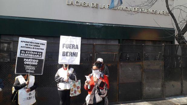 Protesta por Facundo Astudillo Castro Partido Obrero