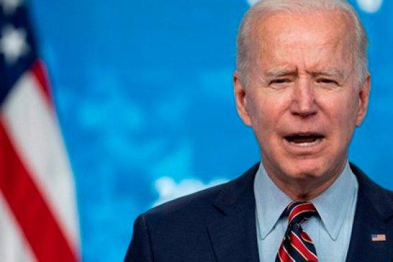 El presidente de Estados Unidos, Joe Biden, habla durante un evento sobre el proceso de vacunación del país, este 21 de abril de 2021 en Washington, EE.UU.. EFE/EPA/Sarah Silbiger