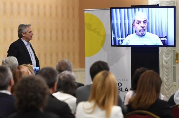 Lula grabó un video que fue emitido durante la primera jornada de la reunión del Gripo Puebla (Maximiliano Luna)
