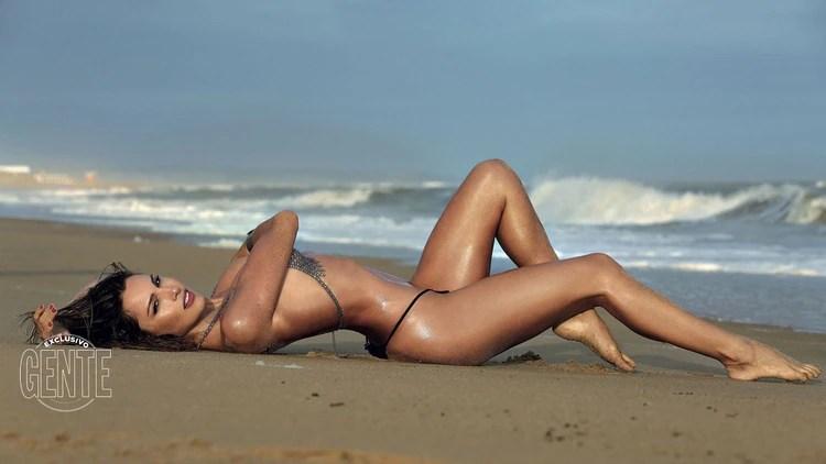 En Punta del Este, realizó una producción muy sensual