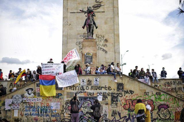 Monumento a los Héroes, Bogotá. Foto: Colprensa - Álvaro Tavera.