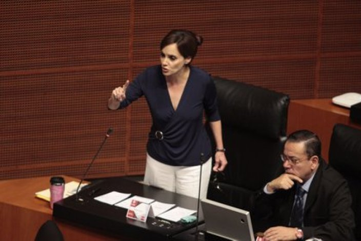 Lilly Téllez, exigió al presidente frenar el crecimiento de la violencia en el estado de Sonora y proteger la vida de sus habitantes (Foto: Cuartoscuro)