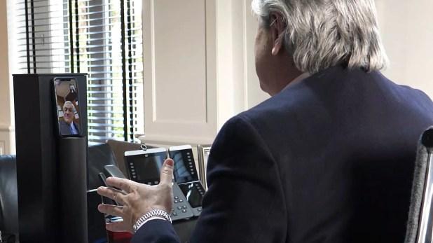 Alberto Fernández Sebastián Piñera Video Roaming