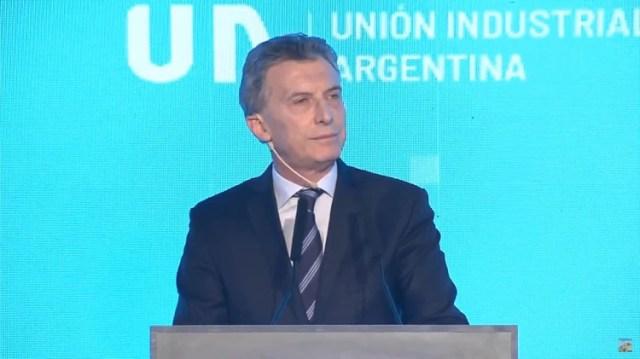 Macri, en la reunión anual de la UIA, el año pasado