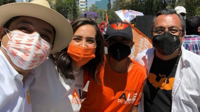 Asaltaron a candidatos de Movimiento Ciudadano en la Álvaro Obregón (Foto: Twitter / @alepuente100)
