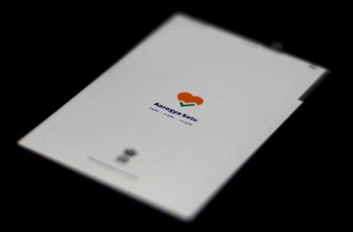 Una ilustración muestra el logo de la aplicación Aarogya Setu (Foto: Reuters)