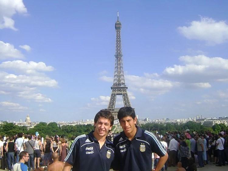 Marchesín y Andrada, de paseo en Francia cuando compitieron en el Torneo Esperanzas de Toulon (2009)