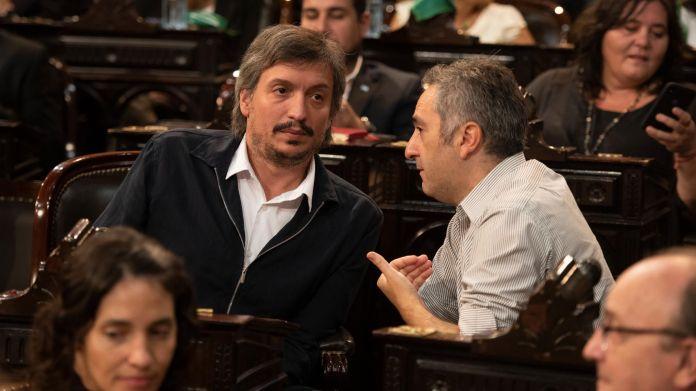 Máximo Kirchner y Andrés Larroque (Adrián Escandar)