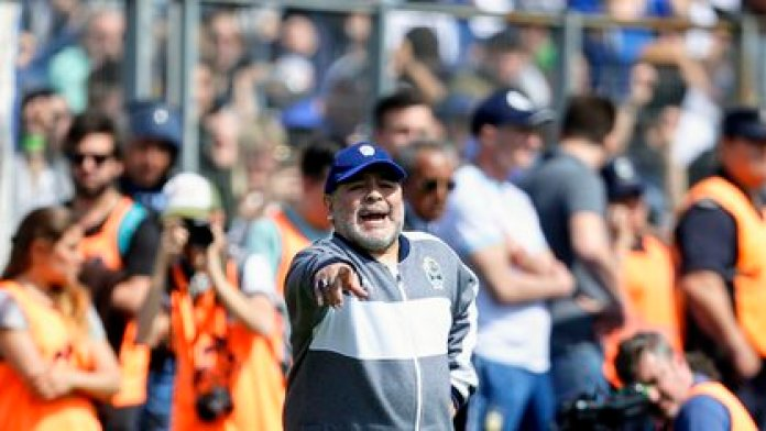 Maradona murió siendo el entrenador de Gimnasia Esrima La Plata (Nicolás Aboaf)