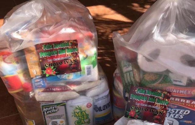 En diciembre, se difundió en redes sociales la entrega de despensas por parte del C.D.S (Foto: Archivo)