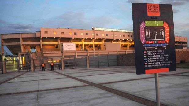 El estadio del Bicentenario, de San Juan será la sede de la final (Victor Carreira/telam/cf)