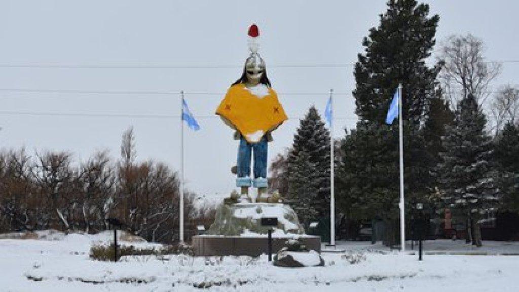 El pueblo tiene un parque infantil en homenaje al dibujante que creó el personaje de Patoruzú (Municipalidad de Luis Piedrabuena)