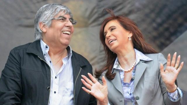 Hugo Moyano y Cristina Kirchner (NA)