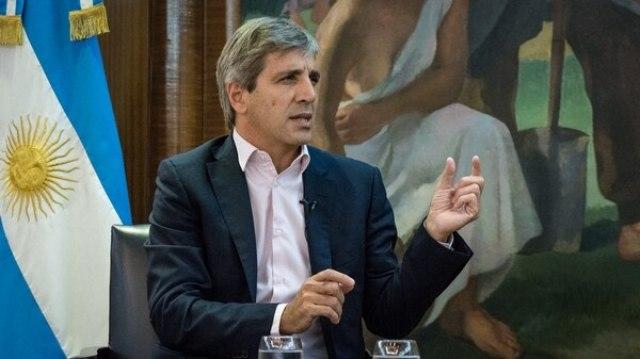 El presidente del Banco Central, Luis Caputo