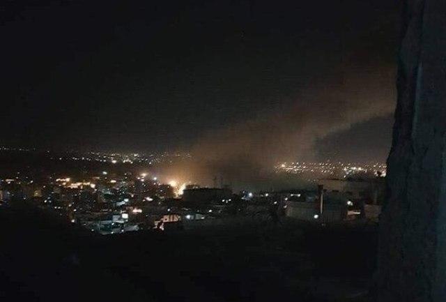 Escena de los ataques en Siria.