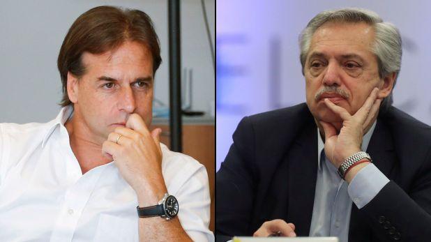 Luis Lacalle Pou y Alberto Fernández