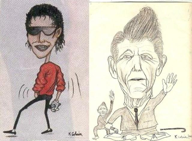 Michael Jackson y Ronald Reagan