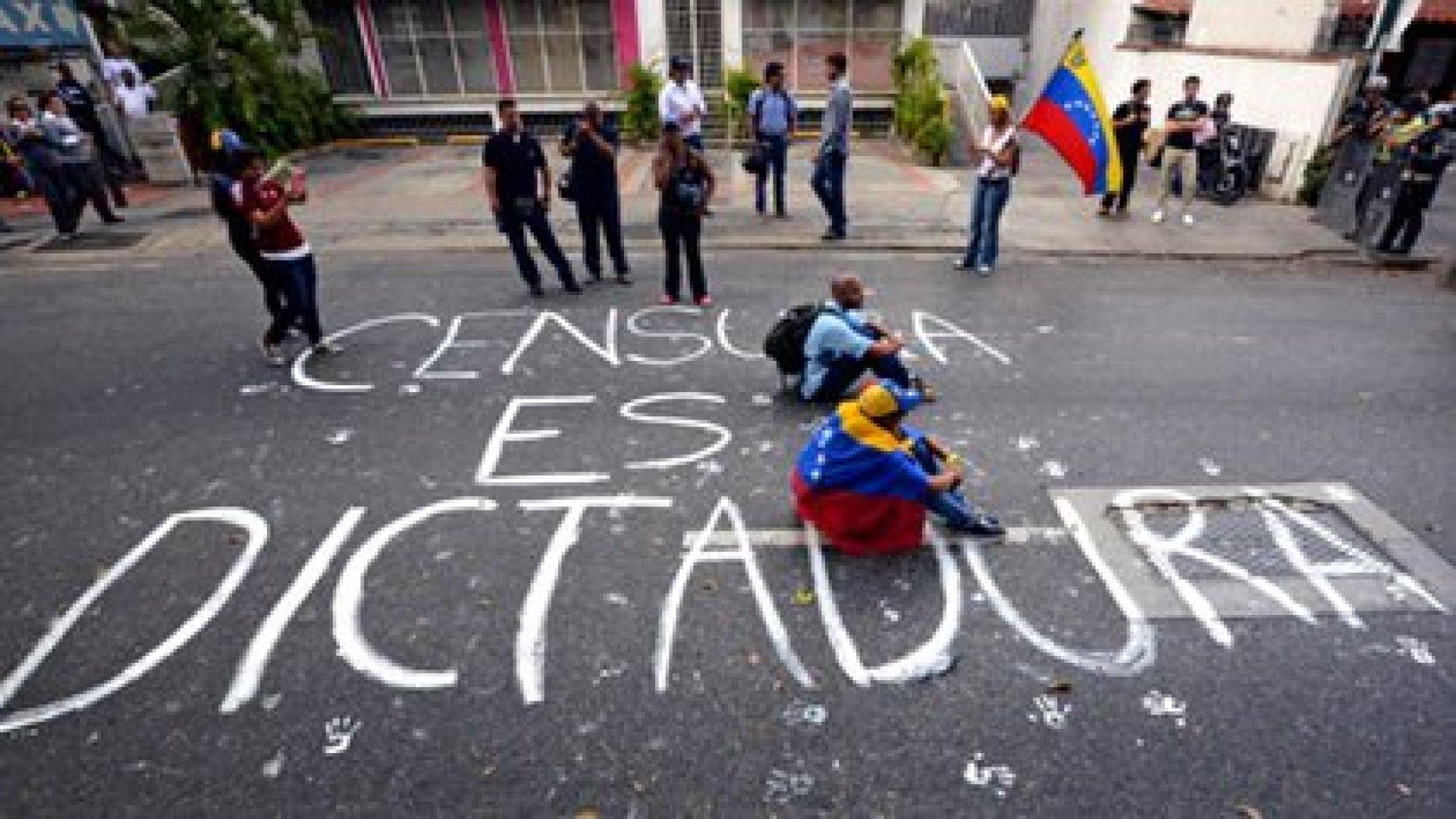 Una protesta contra la censura en Venezuela (Archivo)