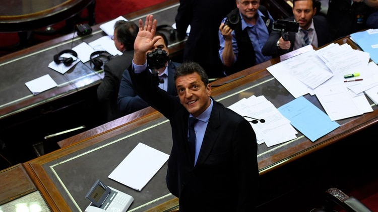 Sergio Massa, flamante presidente de la Cámara de Diputados