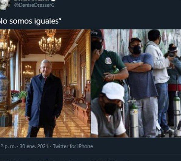 Con estas fotografías comparó las realidades que se viven en México (Foto: Twitter@/DeniseDresserG)
