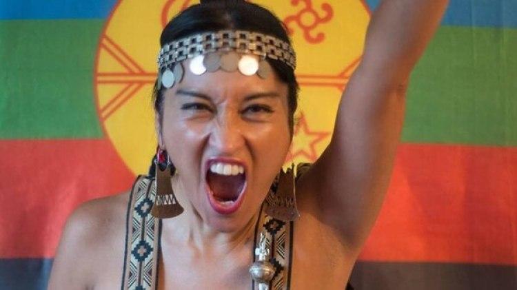 Moira Millán, líder del grupo, con fuertes vínculos con el RAM