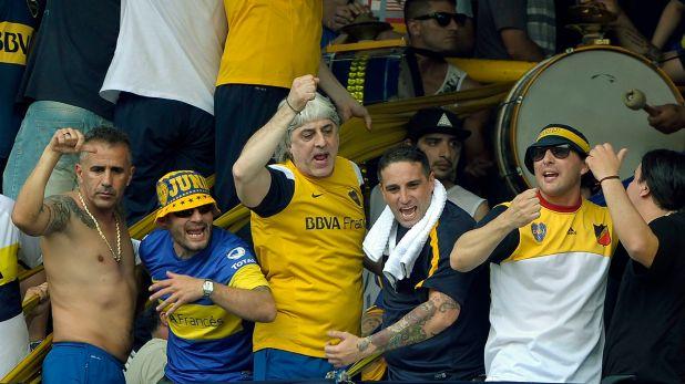Rafael Di Zeo y Mauro Martin viajaron, pero no pudieron ingresar al estadio (Foto de archivo/ AFP)