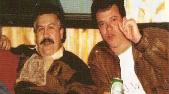 Popeye, junto a Pablo Escobar