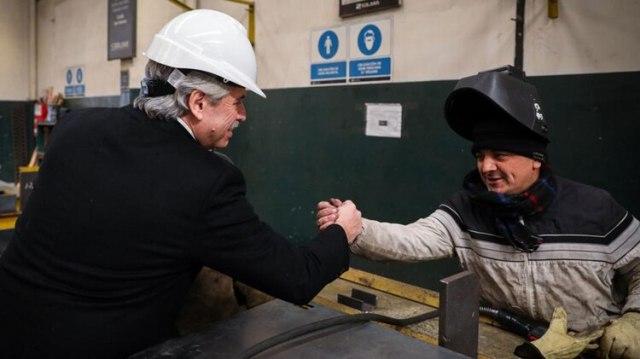 En cada recorrida, Alberto Fernández visita pymes e industrias y a empresarios y sindicatos