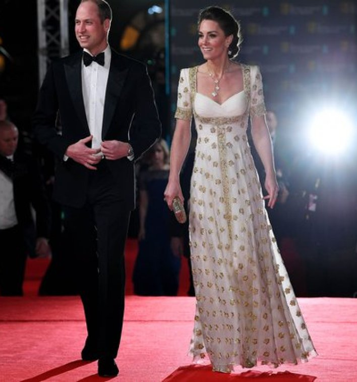 El príncipe WIlliam y la duquesa de Cambridge en el 73 British Academy Film Awards el 2 de febrero de 2020 (James Veysey/ BAFTA/ Shutterstock)