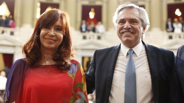 Cristina Kirchner y Alberto Fernández (Prensa Senado)