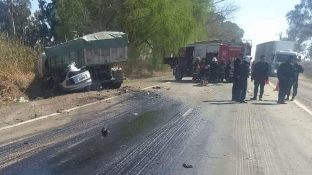 Primera imagen del trágico accidente en el que murieron cinco jóvenes en Mendoza