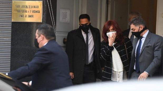 Cristina Kirchner en los tribunales de Lomas de Zamora espionaje