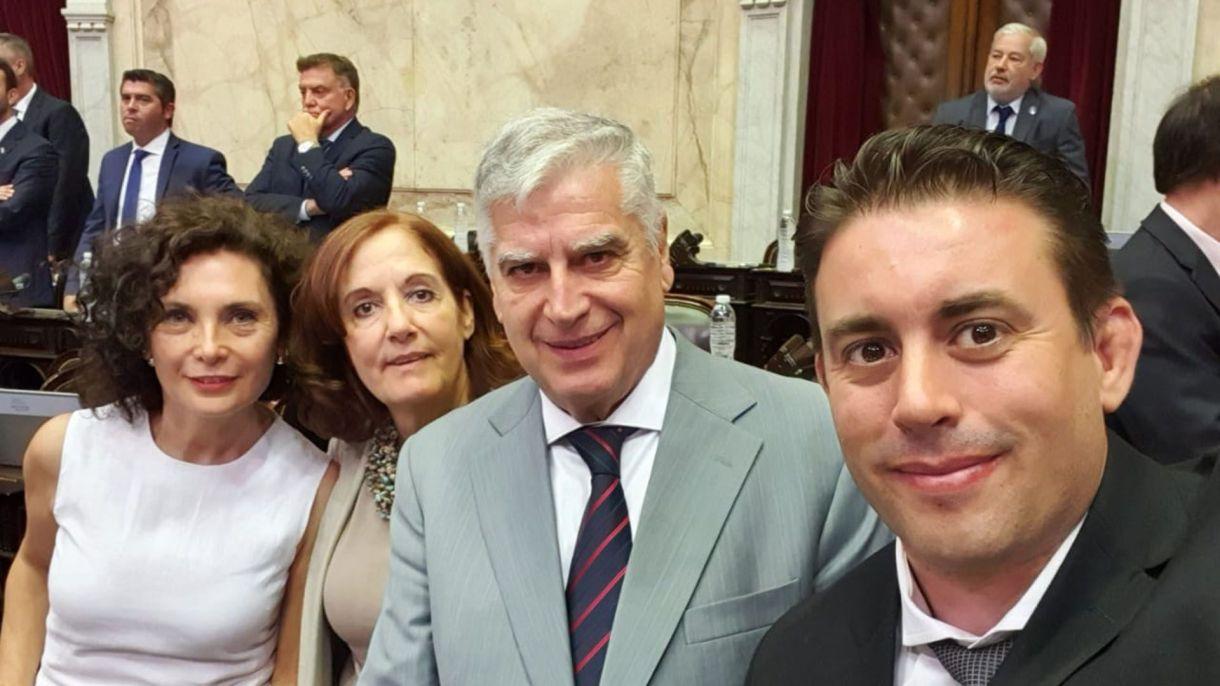 Carlos Gutiérrez, Alejandra Vigo, Pablo Cassinerio y Claudia Márquez