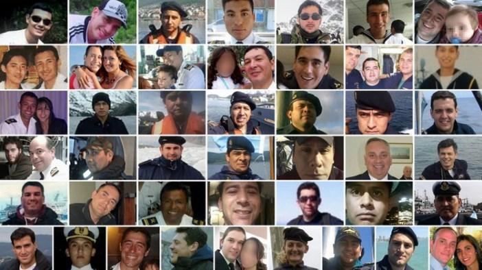 Los 44 tripulantes del ARA San Juan