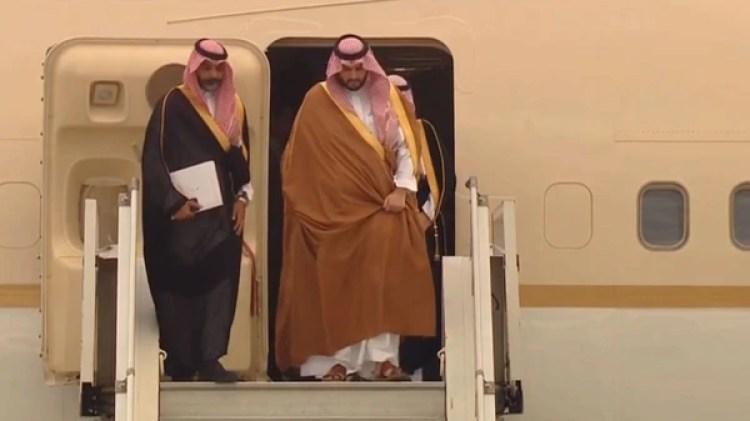 MBS llega en representación de su padre, el rey Salman bin Abdulaziz