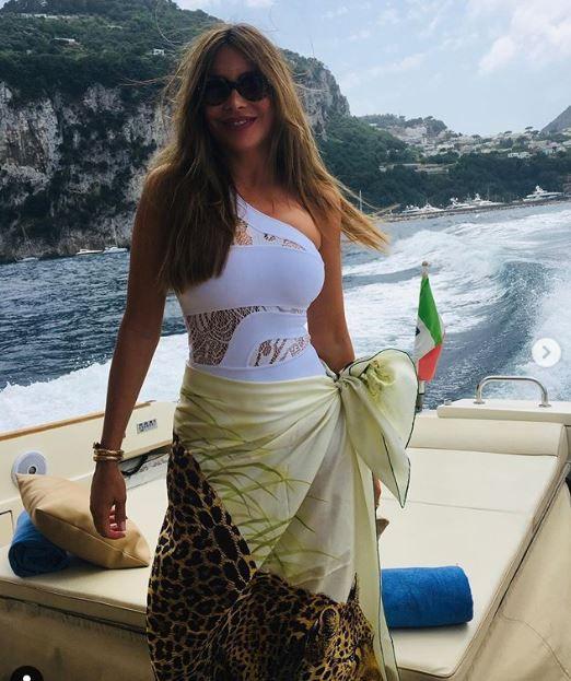 Sofía Vergara en Capri en Italia (Foto: Instagram)