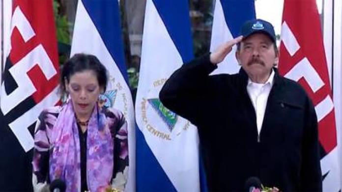 Daniel Ortega and his wife, Rosario Murillo, in their last public appearance