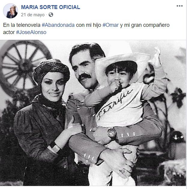 María Sorté telenovela hijo Omar García Harfuch