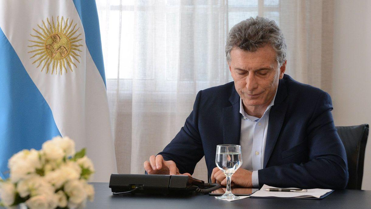 Mauricio Macri, en su despacho de la Quinta de Olivos (Foto de archivo)